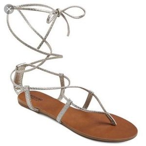 Mossimo supply Metallic gladiator wrap sandals